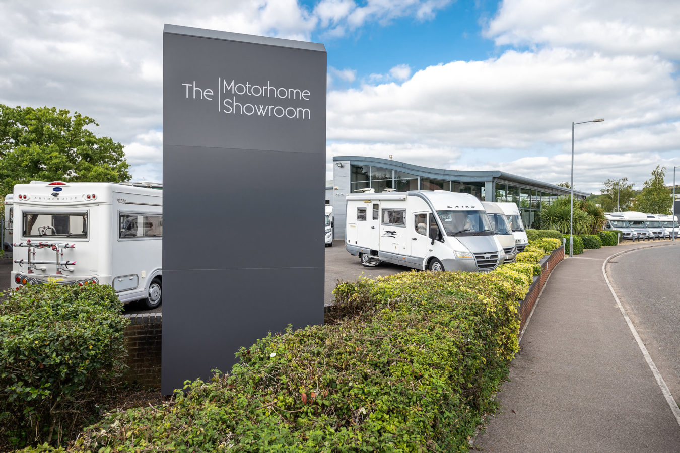 contact the motorhome showroom outside 1